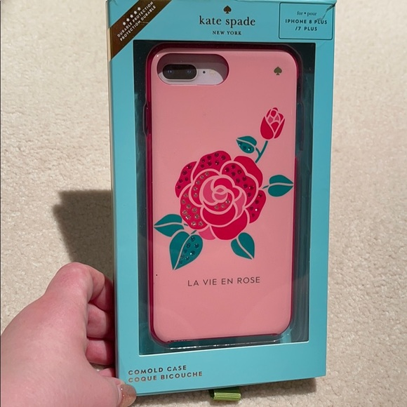 "Kate spade iPhone 8+ ""La Vie en Rose"" case"